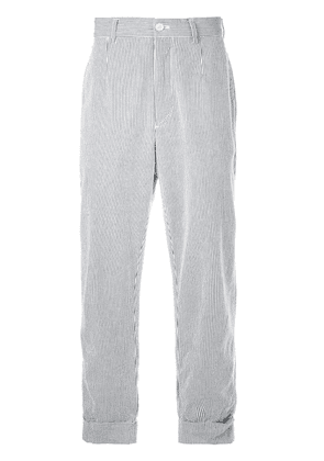 Engineered Garments striped tailored trousers - Blue