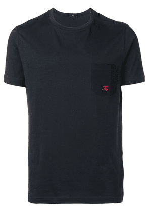 Fay logo embroidered T-shirt - Blue