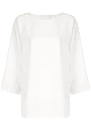 Bamford Watch Department boat neck blouse - White