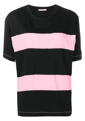 Marni striped T-shirt - Black
