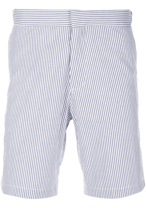 Orlebar Brown pinstripe bermuda shorts - Blue