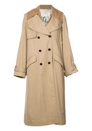 Adam Lippes fringe detailed trench coat - Neutrals