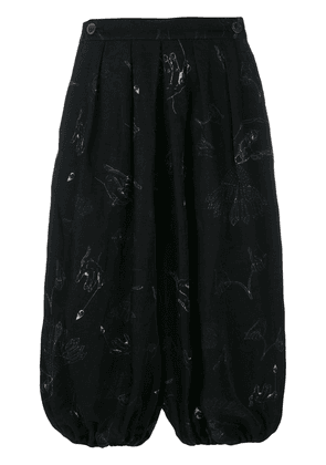 Individual Sentiments printed balloon shorts - Black