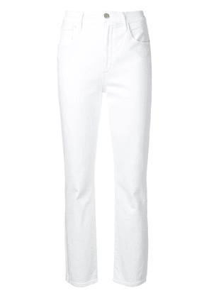 3x1 Collette slim cropped trousers - White