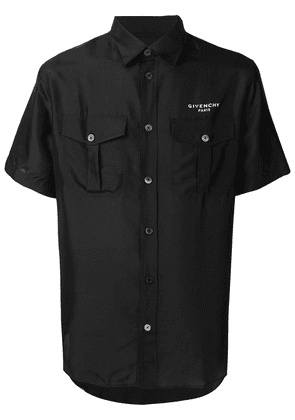 Givenchy logo button-up shirt - Black
