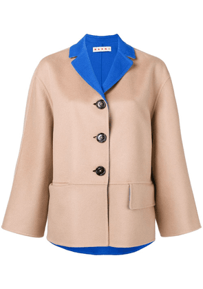 Marni two tone button-down jacket - Neutrals