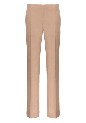 Prada slim leg buttoned cuff tailored woollen trousers - Neutrals
