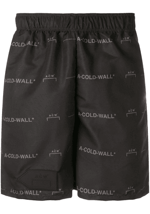 A-Cold-Wall* logo pattern bermuda shorts - Black