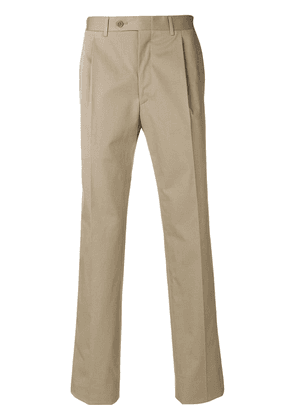 Canali side fastened trousers - Neutrals