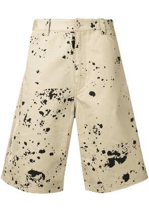 Oamc paint splash shorts - Neutrals