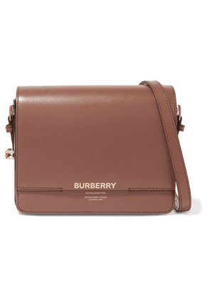 Burberry - Small Printed Leather Shoulder Bag - Brown