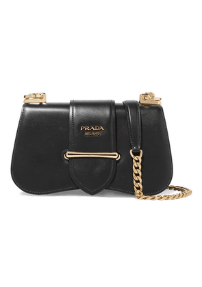 Prada - Sidone Leather Shoulder Bag - Black