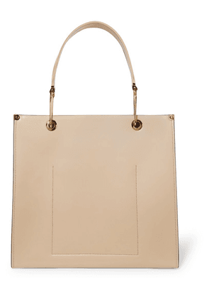 Marni - Square Leather Tote - Camel