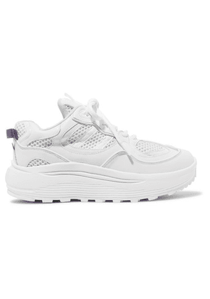 Eytys - Jet Turbo Mesh, Smooth And Patent-leather Platform Sneakers - White