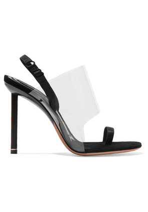 Alexander Wang - Kaia Pvc And Suede Slingback Sandals - Black