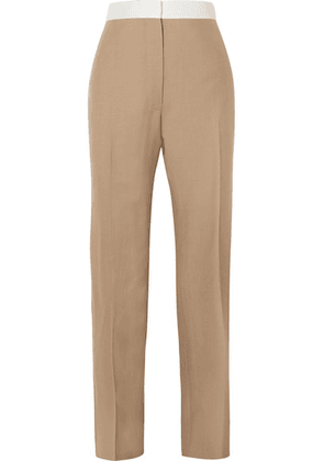 Loewe - Two-tone Wool Slim-leg Pants - Beige
