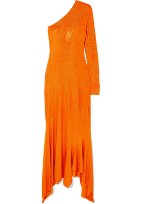 Alexandre Vauthier - One-shoulder Crystal-embellished Stretch-jersey Gown - Orange