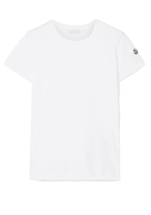 Moncler - Cotton-jersey T-shirt - White