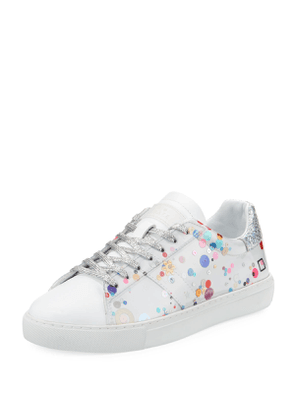 Newman Laminated Low-Top Sneakers