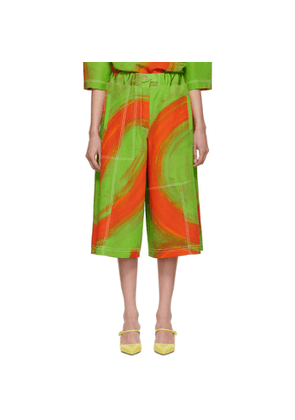 Loewe Green & Orange Oversize Print Trousers