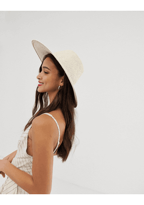 2e094b62 ASOS DESIGN natural straw floppy hat with plait braid and size ...