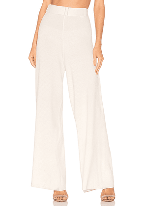 AG Adriano Goldschmied Quill Knit Pant in Ivory. Size S.