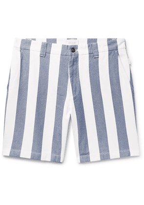 Aimé Leon Dore - Slim-fit Striped Cotton Oxford Shorts - Blue