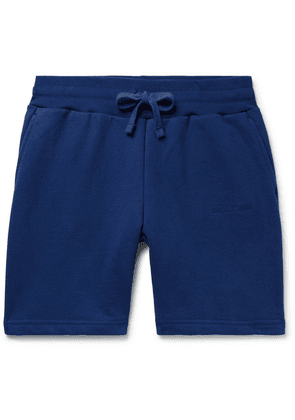 Aimé Leon Dore - Logo-embroidered Loopback Cotton-jersey Drawstring Shorts - Blue