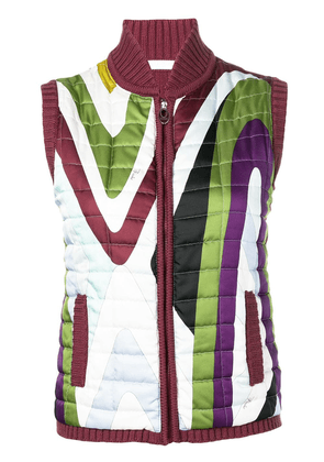 Emilio Pucci Vintage 2000's quilted gilet - Red