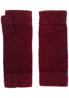 N.Peal finger-less knitted gloves - Red