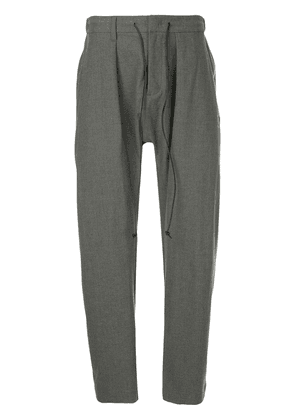 Attachment tapered belted trousers - Grey