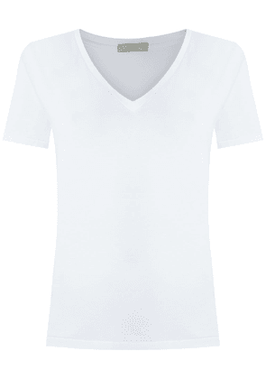 Egrey v neck t-shirt - White