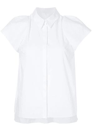 Delpozo structured sleeve shirt - White