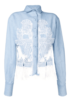 Ermanno Scervino denim lace shirt - Blue