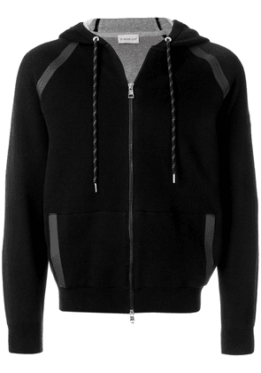 Moncler zipped track hoodie - Black