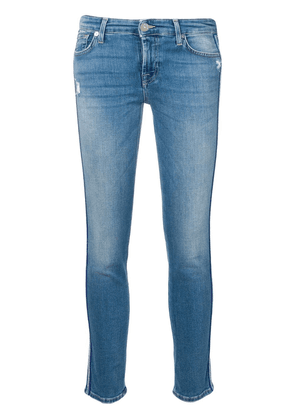 7 For All Mankind cropped skinny jeans - Blue