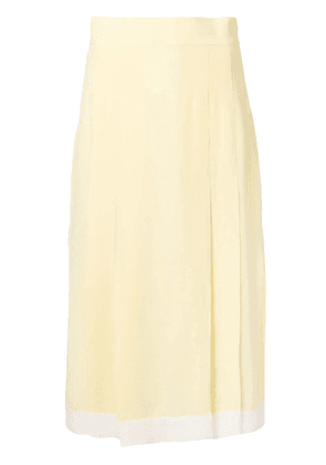 Cashmere In Love high-waisted pleated skirt - Yellow