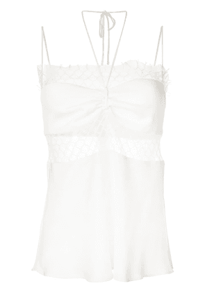 Christopher Esber lace-panelled top - White