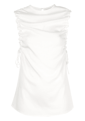 Christopher Esber Stratus ruched tank top - White