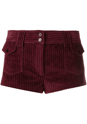 Saint Laurent vintage corduroy micro shorts - Red