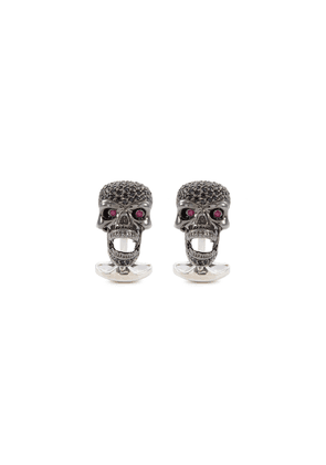 Moveable skull cufflinks