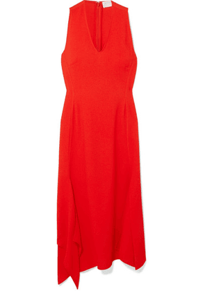 Victoria Beckham - Asymmetric Crepe Midi Dress - Red
