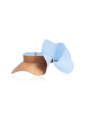 DELPOZO Two-Tone Frill Leather Belt