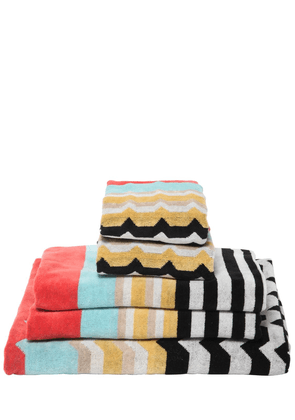 Wolf Set Of 5 Cotton Terry Towels