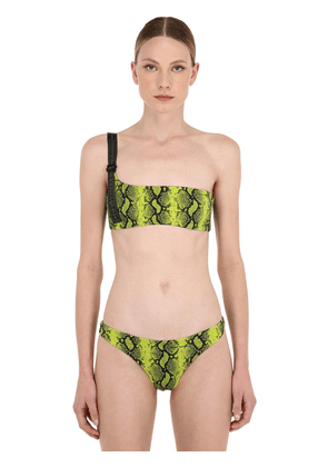 Python Printed Two Piece Bathing Suit