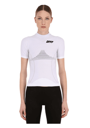 Logo Print Fitted Stretch Sport T-shirt