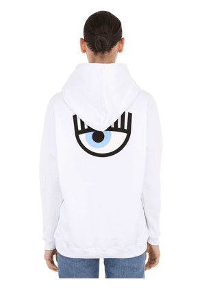 Eye Embroidery Cotton Hoodie