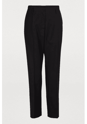 Wool-blend tailored pants