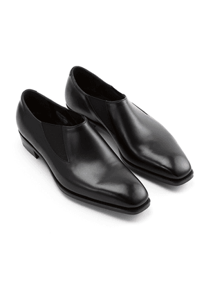 Black Bulow Elastic Sided Leather Shoes