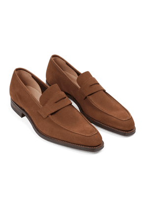 Tobacco Suede George Penny Loafers